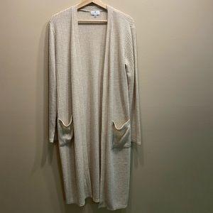 Socialite long waffle sweater size S